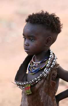 Africa   Young Hamer girl in a small town not far from Turmi.  Ethiopia   ©Mathilde S.