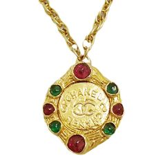 Vintage Chanel Poured Glass Necklace 1990s