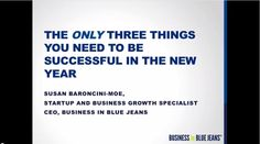 VIDEO: The Only Three Things You Need for #Success in the New Year