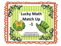 FREE + 1 -1 Math Centers St. Patrick's Day and Transportation  http://www.idreamoffirstgrade.blogspot.com/2013/02/1-1-math-centers-st-patricks-day-and.html