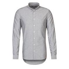 €119, Graues Langarmhemd von Tiger of Sweden. Online-Shop: Zalando. Klicken Sie hier für mehr Informationen: https://lookastic.com/men/shop_items/302920/redirect