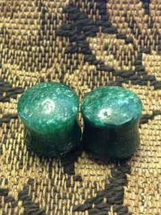 Green quartz stone plugs. $24.00, via Etsy.