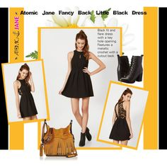 How To Wear Atomic Jane Fancy Back Little Black Dress V 20. Outfit Idea 2017 - Fashion Trends Ready To Wear For Plus Size, Curvy Women Over 20, 30, 40, 50