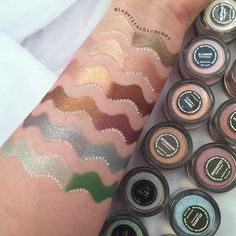 WEBSTA @ lapetitechicmommy - Swatches of Foiled Pigments. These colors are giving me life 😍😍😍😍 Do you have any of these? Which one is your fave? Makeup Geek Pigment, Makeup Geek Cosmetics, Beauty Skin, Beauty Makeup, Eye Makeup, Hair Makeup, Makeup Tips, Makeup Products, Makeup Ideas