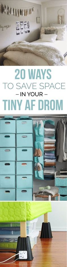 If you're looking to save space in your small dorm room, these are space saving hacks for your college dorm to make it feel bigger and more organized!