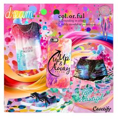 """Color Craze"" by sapphire12 ❤ liked on Polyvore featuring Casetify, Vans, colorful and contestentry"