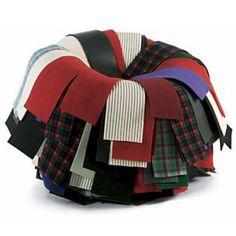 Campana sushi chair - Fernando and Humberto - recycler - inventer - retravailler - transformer - assemblage de tissu usagé recycler pour y créer un fauteuil à la foi élégant et confortable