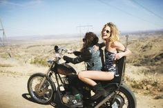 motorcycle and a beautiful girlfriend ... What else in life you want?