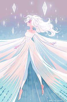 elsa in frozen ii Disney Princess Drawings, Disney Princess Art, Disney Drawings, Disney Kunst, Arte Disney, Images Disney, Disney Pictures, Disney Artwork, Disney Fan Art