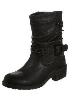 Cowboy-/ Bikerstiefeletten - black Anna, Biker, Shoes, Black, Fashion, Boots, Zapatos, Latest Trends, Over Knee Socks
