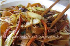 Kínai zöldséges tészta 2 in 1 Food Hacks, Beef, Meat, Steak