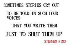 Some Monday inspiration from Stephen King
