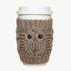 Owl love coffee cozy $3.99