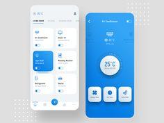 Smart Home by Manoj Rajput for Mindinventory on Dribbble Pop Design, Flat Web Design, Dashboard Design, App Ui Design, Interface Design, User Interface, Mobile App Design, Android App Design, Moodboard App