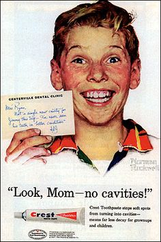 "Crest toothpaste - ""Look, Ma! No cavities!"" - Benton & Bowles - 1958"