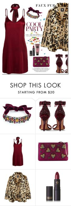 """""""party night"""" by katymill ❤ liked on Polyvore featuring Lanvin, Givenchy, WithChic, Christian Louboutin, Lipstick Queen and Victoria's Secret"""