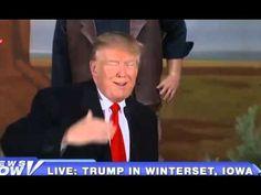 Donald Trump Winterset Iowa Rally LIVE 1/19/16 FULL John Wayne ...