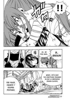 Jellal y Erza quedan en un momento incomodo al Christina moverse bruscamente (Jerza) - Fairy Tail Manga 529