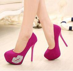 ^^  FRETE GRÁTIS 2014 nova moda sexy strass sapatos de salto alto mulheres bomba plataforma sapatos de casamento vestido de festa                                                                                                                                                                                 Más
