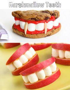 Marshmallow Teeth Halloween Snack