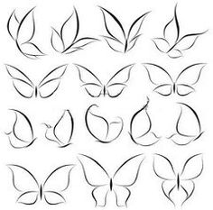 Doodle art design tattoos 32 ideas for 2019 Butterfly Nail Art, Butterfly Logo, Simple Butterfly Drawing, White Butterfly, Butterfly Tattoos, Butterfly Design, How To Draw Butterfly, Butterfly Wing Tattoo, Butterfly Outline