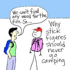 Stick figure camping joke