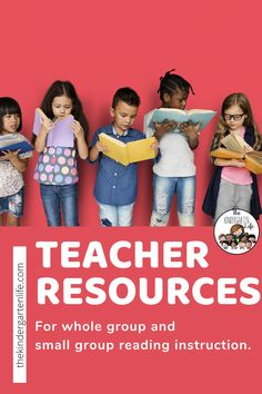Use these teacher resources for whole group or small group reading instruction. Short Vowels, Long Vowels, Blends and Digraphs Reading Worksheets, Reading Resources, Teacher Resources, Kindergarten Rocks, Kindergarten Reading, Early Education, Childhood Education, Teaching Vowels, Blends And Digraphs