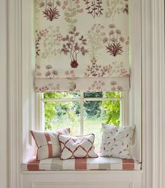 Floral Roman Blind in Jane Churchill fabrics