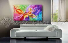 Abstrait peinture peinture florale Print par JuliaApostolova