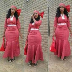 Sotho Of Southern Africa Traditional Attire ⋆ Sotho Traditional Dresses, African Traditional Wedding Dress, Traditional Dresses Designs, Traditional Outfits, African Fashion Designers, African Men Fashion, Africa Fashion, African Women, African Beauty