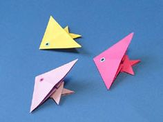 Fische basteln, Kostenlose Bastelvorlage, Fish Origami Paper, Folding, Animal Origami Pattern, template, how to , step by step, Tutorial, kawaii, adorable, easy cute papercrafts for kids