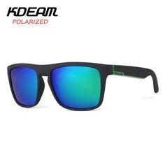 1a27e944b8e KDEAM Brand Sunglasses Men Sports Sun Glasses Women Polarized Mirror lens  Square Frame 11 Colors UV400