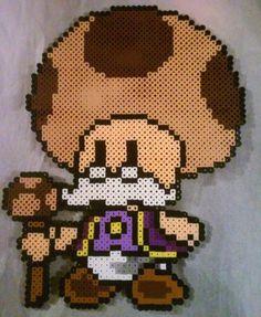 Toadsworth - Super Mario perler beads by phantasm818
