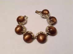 Vintage Chunky Chocolate Mocha Brown Thermoset by stylishjunque $15