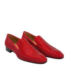 Christian Louboutin Red Dandelion Strass loafers for Men | Level Shoes