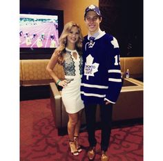Wives and Girlfriends of NHL players: Stephanie LaChance & Mitch Marner William Nylander, Mitch Marner, Sports Couples, Hockey Wife, Nhl Players, Wife And Girlfriend, Toronto Maple Leafs, Ice Hockey, Couple Goals