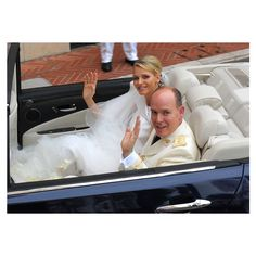 Prince Albert and Charlene Wittstock Wedding Photos Celebrity Bride... ❤