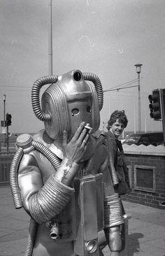 Cyberman smoking!   #DoctorWho