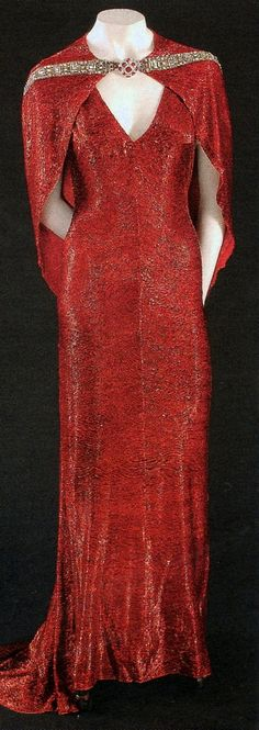 Adrian designed this dress for Joan Crawford for the movie, 'The Bride wore Red'.