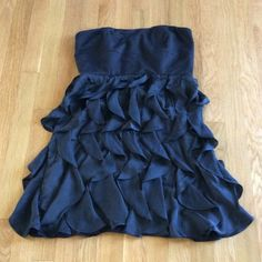 Lauren Conrad Dress sz 8 In good condition. Black strapless dress with soft layers on bottom. Lauren Conrad Dresses