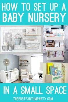 How to Set Up A Baby Nursery in A Small Space. With these tips and tricks you can set up a baby nurs. , How to Set Up A Baby Nursery in A Small Space. With these tips and tricks you can set up a baby nurs. Baby Nursery Organization, Nursery Storage, Small Space Organization, Organization Ideas, Organizing Baby Clothes, Tips And Tricks, Baby Nursery Diy, Diy Baby, Baby Room