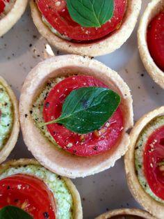 Cherry tomato & pesto tartlets