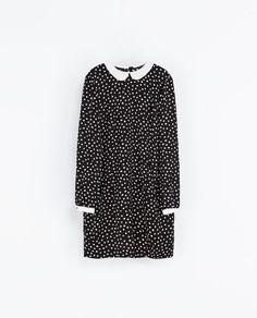 Image 7 de ROBE À IMPRIMÉ POIS ET COL CLAUDINE de Zara