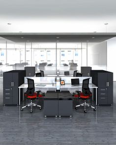 The Mayline collection is full of innovative desk configurations and office furniture solutions sure to take your . Commercial Office Furniture, Used Office Furniture, Modern Furniture, Home Furniture, Cool Office Space, Open Office, Mini Office, Office Spaces, Modular Office