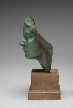 Mask of a Woman, c. 1922-Victor D. Salvatore (American, 1884-1965), bronze, Overall: 14 x 9.6 x 8 cm (5 1/2 x 3 3/4 x 3 1/8 in.)