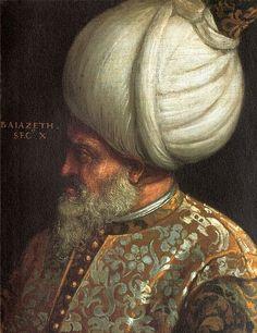 Portrait of Sultan Bayezid II of the Ottoman Empire.20 MAYIS 1481 - II. Beyazıt, Osmanlı padişahı oldu.Osmanlı İmparatorluğu'nun 8.Padişahı, II.Bayezid (1447 - 1512).