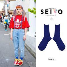 SEIO  台灣樂天市場:襪子/日本街拍 SEIO 經典日本素色ショートクルー定番 純素色襪子 百搭街拍必備 (23色) 純日本製