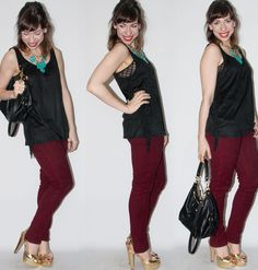 look do dia - como usar calça burgundy - blog de moda