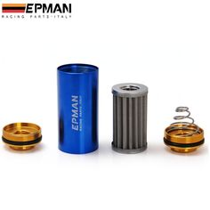 Epman Racing Ready Inline Fuel Filter AN6 / AN8 / AN10 / OD=8.6 with 100 Micron Element  EP-OF-FS