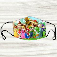 Custom face maskSize:Adult's Width cm), length in Width in cm), length in different! Wear this face mask with beautiful picture!Super soft polyester, will not irritate skin.Reusable, machine washable with cold water. Mario Room, Mouth Mask Fashion, Star Wars Poster, Super Mario, Yoshi, Bowser, Children, Kids, Handmade Gifts
